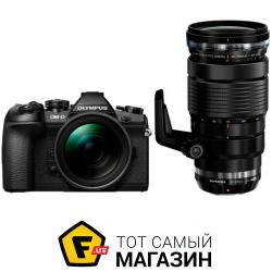 Фотоаппарат Olympus E-M1 Mark II Double Zoom Pro 12-40mm +40-150mm Kit Black/Black/Black