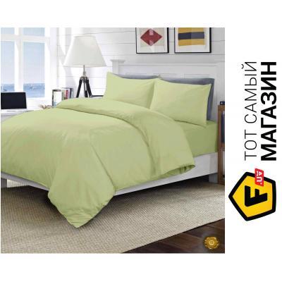Комплект постельного белья Еней-Плюс Евро постельный комплект МІ0009, цвет: бежевый (MI0009)