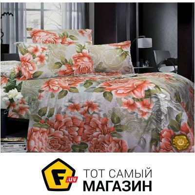 Комплект постельного белья Еней-Плюс Двойной постельный комплект B0338, цвет: серый, зеленый, красный