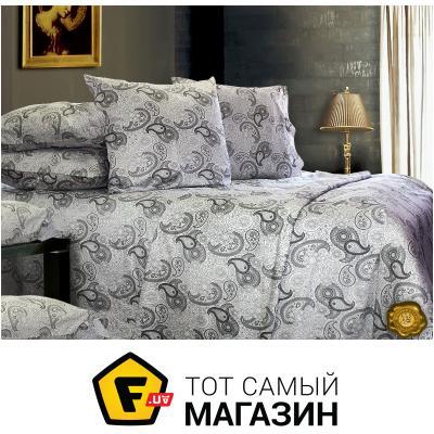 Комплект постельного белья Еней-Плюс Полуторный постельный комплект C0139, цвет: белый, черный