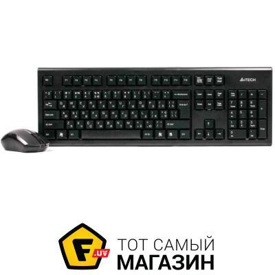 Комплект (клавиатура и мышь) A4Tech 3000 N Black (GK-85+G3-200N)