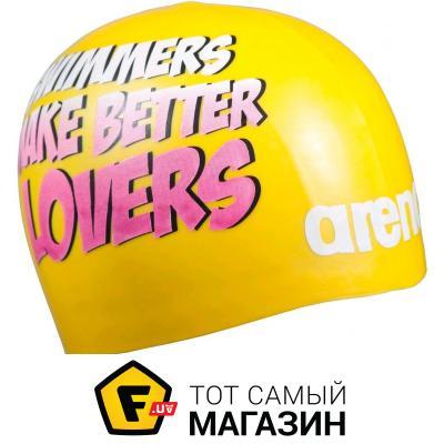 Шапочка для плавания Arena Poolish Moulded yellow/lovers (1E774-301)