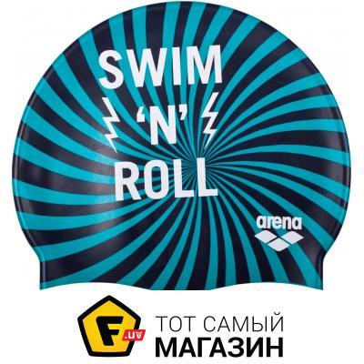 Шапочка для плавания Arena Print Jr Swim & Roll navy (94171-706)