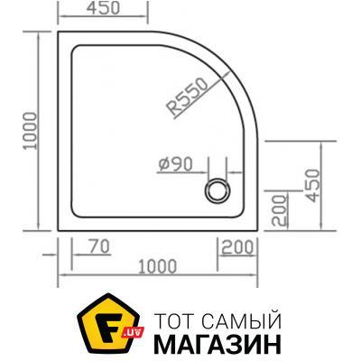 Поддон для душевой кабины Eger SMC (599-1010R)