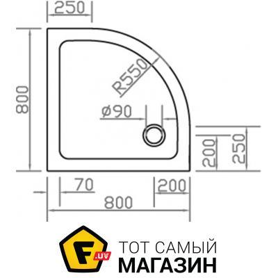 Поддон для душевой кабины Eger SMC (599-8080R)