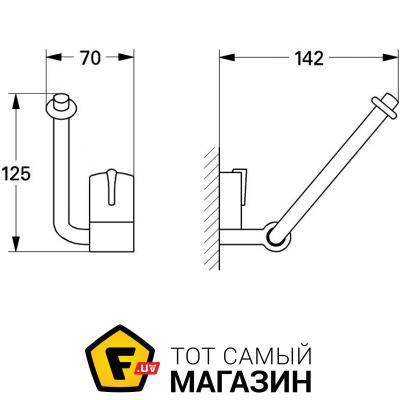 Держатель для туалетной бумаги Grohe Ectos (40267)