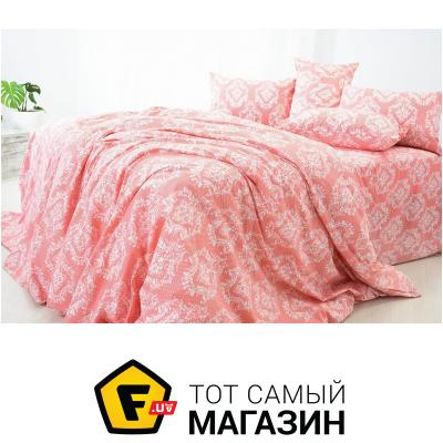 Комплект постельного белья IDEIA Барокко евро, коралловый (2200004057231)
