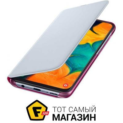 Чехол Samsung Wallet Cover for Galaxy A30 A305F, White (EF-WA305PWEGRU)