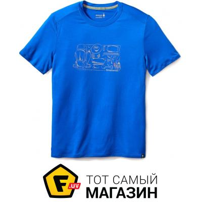 Термофутболка Smartwool Men`s Merino 150 Backpacker`s Tee XL, bright blue (16048.378-XL)