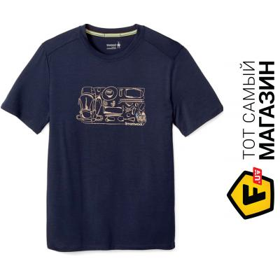 Термофутболка Smartwool Men`s Merino 150 Backpacker`s Tee XL, deep navy (16048.092-XL)