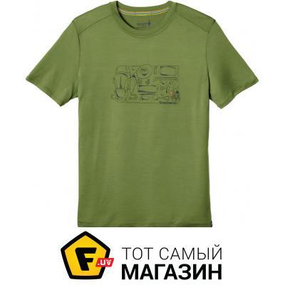 Термофутболка Smartwool Men`s Merino 150 Backpacker`s Tee XL, light loden (16048.261-XL)