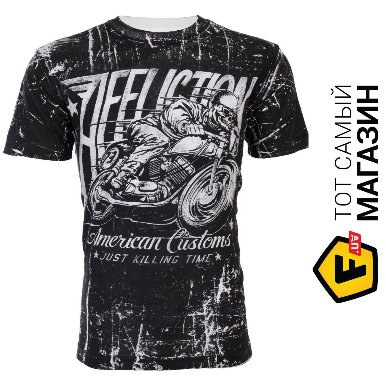 AFFLICTION Mens T-Shirt HELL RACER American Customs Motorcycle Biker UFC $58