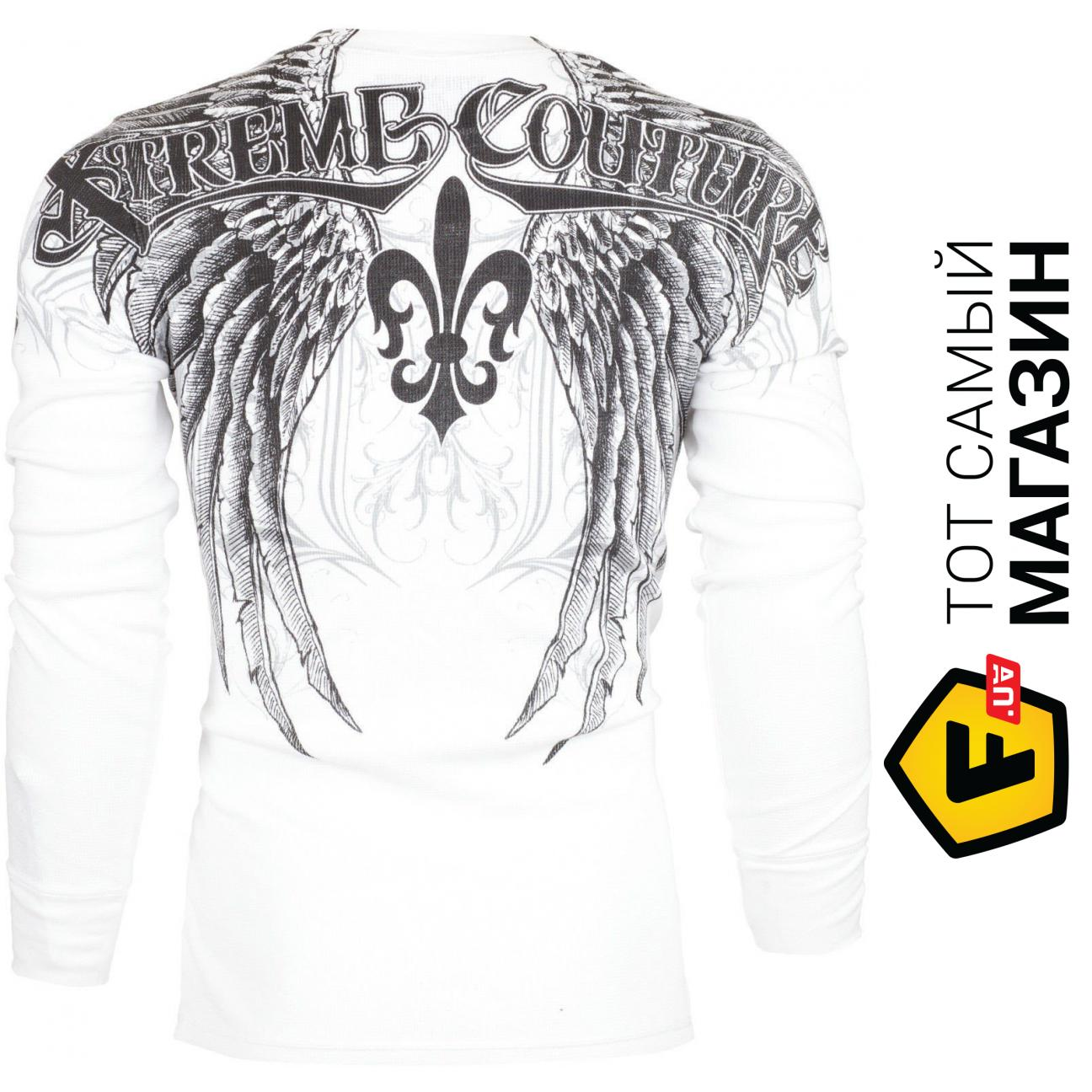 Affliction/ Xtreme Couture Mens Thermal T-Shirt GATHERER Tattoo Biker
