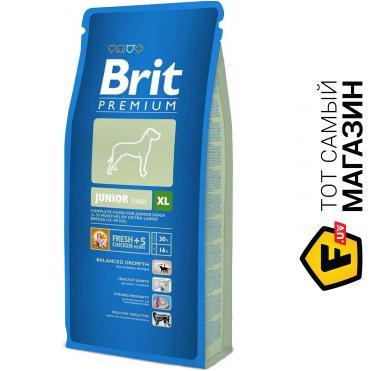 Корм Brit Premium Junior L 15kg для щенков и молодых собак крупных пород 9362/132329