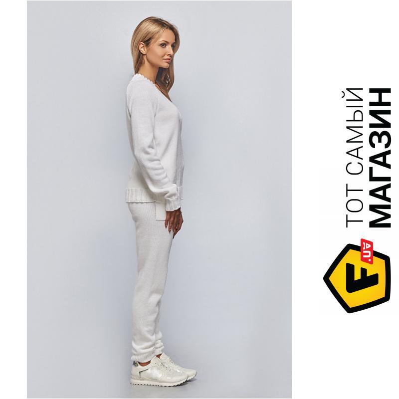 ᐈ Brunello De Neri белый вязаный костюм свитер с V образным