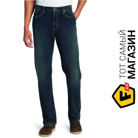 Джинсы Eddie Bauer Men Authentic Jeans Relaxed Fit LONG DK HERITAGE 38-32  Синие ( 1fa6162e8e2cc