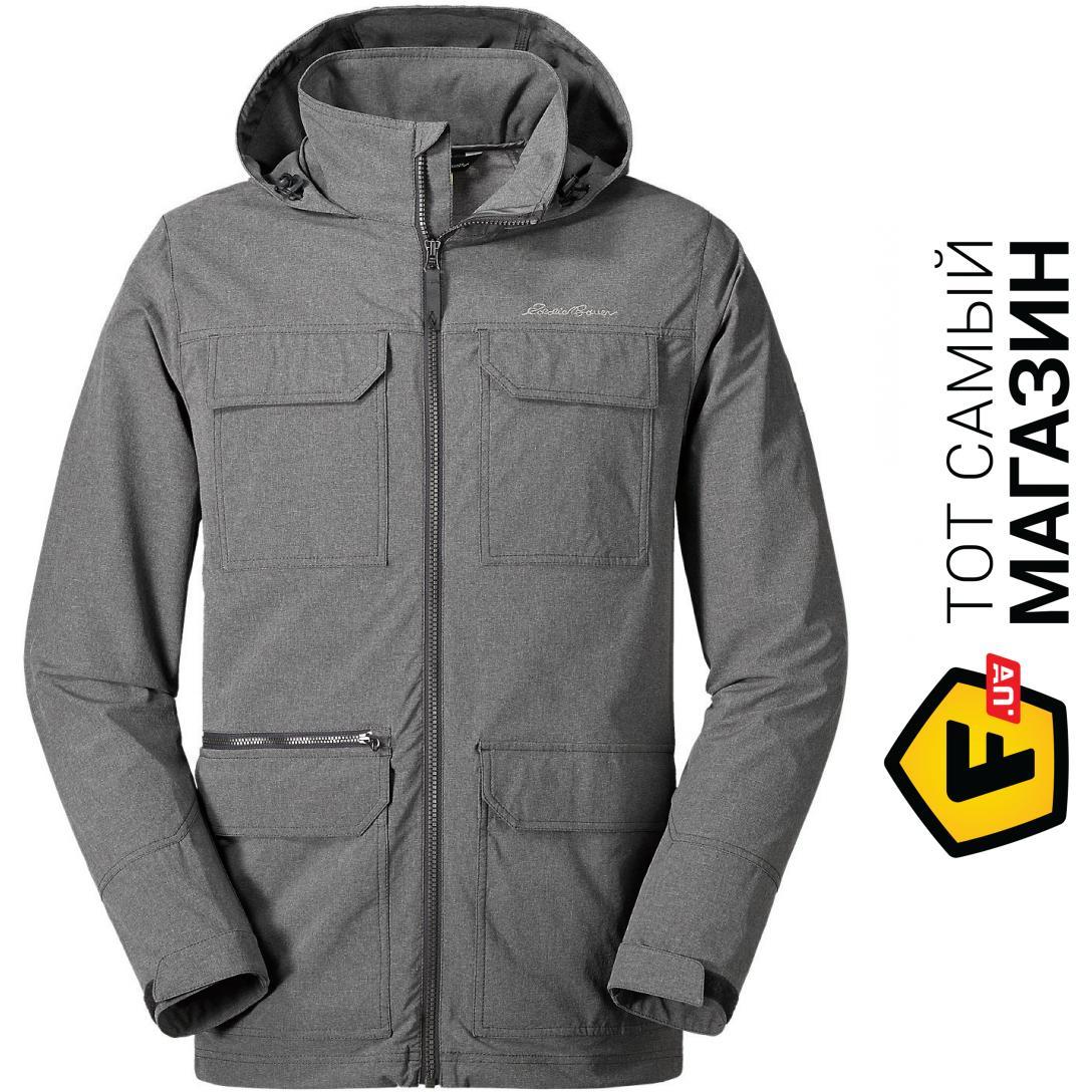 Куртка Eddie Bauer Mens Atlas Stretch Hooded Jacket CHARCOAL HTR L Серая  (0049CHH-L 256b1e37fc5b0