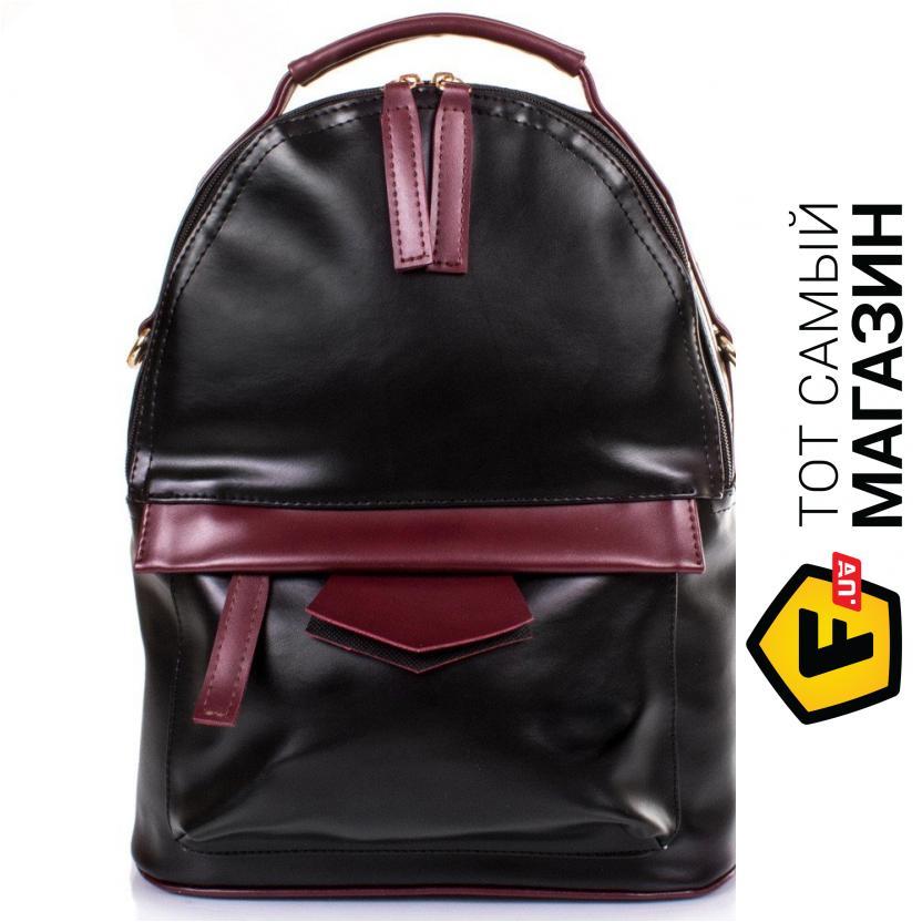 """e4437f945adb Сумка-рюкзак Eterno — искусственная кожа, искусственная лаковая кожа —  стиль женский повседневный оригинал черный """"ETZG17-16-17"""""""