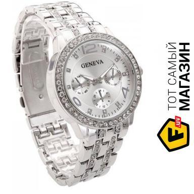8f1061025f87 ᐈ GENEVA (WATCH) Женские часы Geneva 1320 Silver ~ Купить? ЦЕНА ...