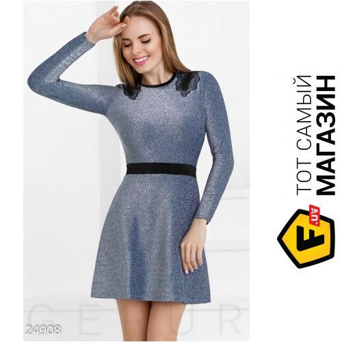 90de1fe8308 ᐈ GEPUR Короткое платье люрекс Алевтина Синие