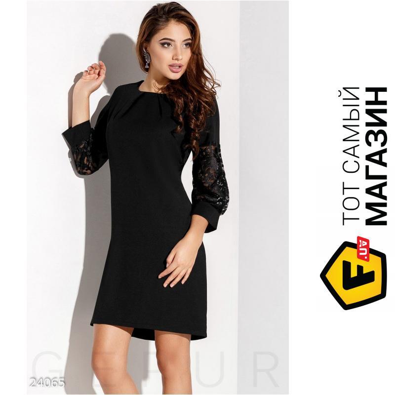 2347a04abfb ᐈ GEPUR Черное платье рукава-фонарики Radiance Mariya