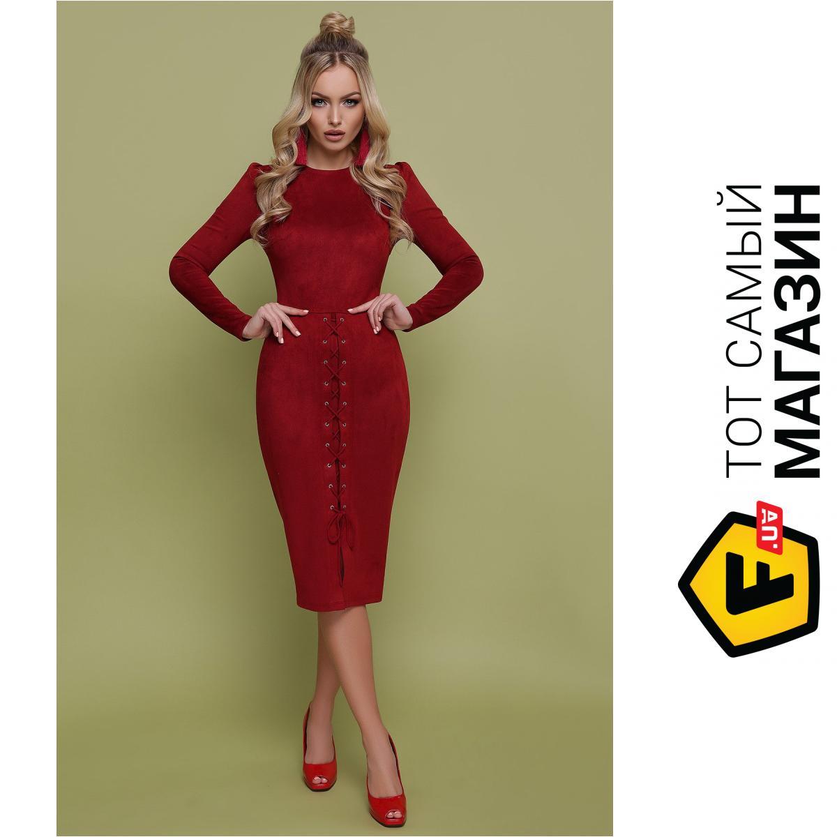 f11c50b26eb75 ᐈ Платье GLEM Таяна S Бордовый (GLM-pl00106) ~ Купить? ЦЕНА Снижена ...