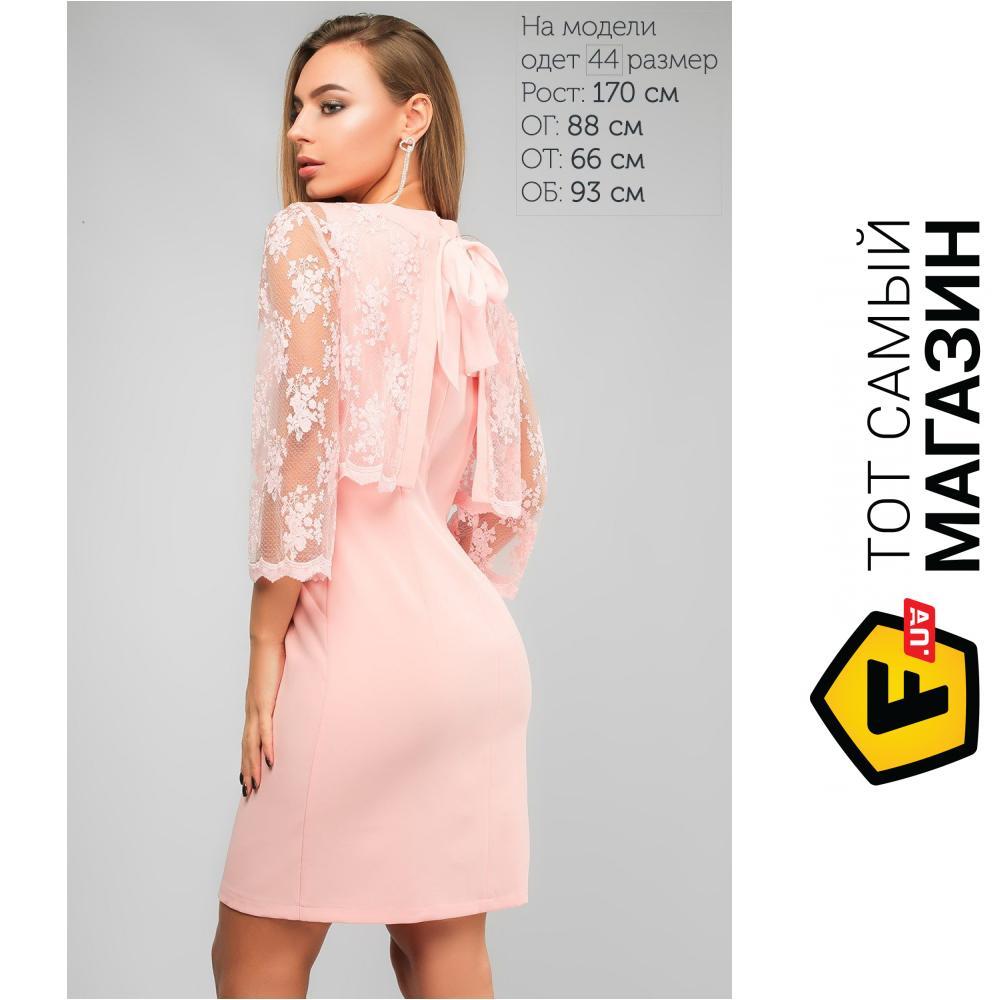 c3c416d0db9e0c8 Lipar Розовое платье City Полина, размер 46 (379654_46) Материал: костюмный  креп,