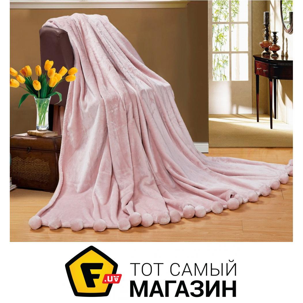 Плед двуспальное 220 x 200 см легкое розовый Love You Меховой с ... 5936da1db8e97