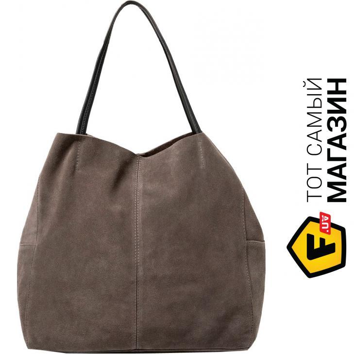 "68b9afec023e Сумка Mango — замша — стиль женский классический оригинал серый ""Maider,  серый (53023629)"""