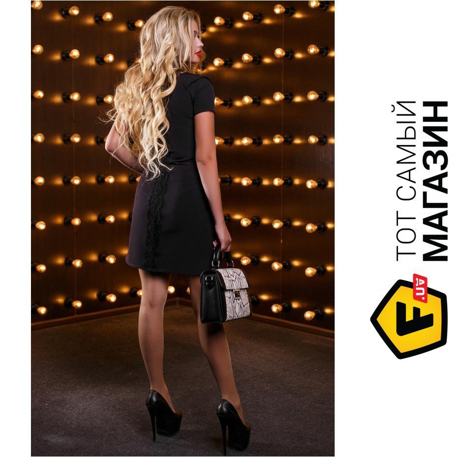 641034a9654 ᐈ SEVENTEEN Модное платье-трапеция с кармашками черный