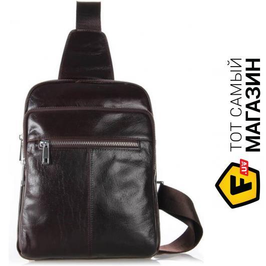 """83b8a68d005f Сумка-рюкзак Tiding Bag — натуральная кожа — стиль мужской повседневный  оригинал коричневый """"7216C"""""""