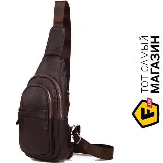 """79b654f9b6da Сумка-рюкзак Tiding Bag — натуральная кожа — стиль мужской повседневный  оригинал коричневый """"A25-6602C"""""""