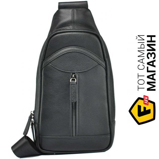 """1528f333bb19 Сумка-рюкзак Tiding Bag — натуральная кожа — стиль мужской повседневный  оригинал черный """"M850-1A"""""""