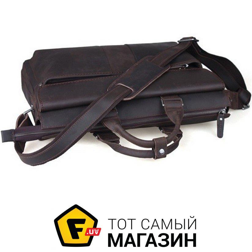 """Сумка Tiding Bag — натуральная кожа — стиль мужской деловой оригинал  коричневый """"t1096"""" Глубина 99a9deec1b667"""