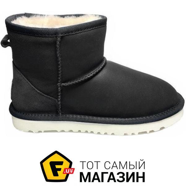 4e2d5438e93 Угги Женские сапоги UGG Classic Mini Leather Black W размер 38 (117010-38)